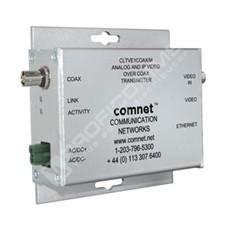 ComNet CLRVE2COAX: Průmyslový Fast Ethernet 10/100M RJ45  a video media konvertor na koax