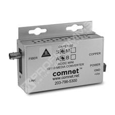 ComNet CNFE1002SAC1B-M: Průmyslový WDM Fast Ethernet mini media konvertor 10/100M RJ45 na SM ST