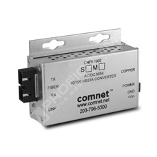 ComNet CNFE1003SAC2-M: Průmyslový Fast Ethernet mini media konvertor 10/100M RJ45 na SM SC