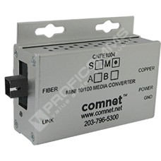 ComNet CNFE1004SAC1B-M: Průmyslový WDM Fast Ethernet mini media konvertor 10/100M RJ45 na SM SC