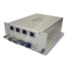 ComNet CNFE8FX4TX4US: Průmyslový 8 port Fast Ethernet L2 switch