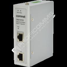ComNet CNGE1IPS95: Průmyslový 1 port Gigabit Ethernet PoE++ Injektor, -40°C až +75°C, redundantní napájení, montáž na DIN lištu