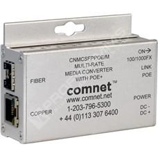 ComNet CNMCSFPPOE/M: Průmyslový Gigabit Ethernet PoE+ media konvertor 10/100/1000M RJ45 na 100/1000M SFP