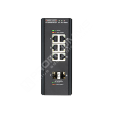 Edge-Core ECIS4500-6T2F: Průmyslový Gigabit Ethernet L2/L3 switch s 1GE uplinkem 8 port, zdroj -48V DC