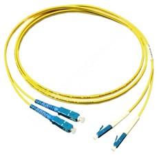 MODnet V09SC/LC2D: Optický SM 9/125um patchcord, duplex, konektory SC(PC)/LC(PC), délka 2m