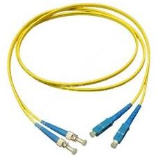 MODnet V09SC/ST1D: Optický SM 9/125um patchcord, duplex, konektory SC(PC)/ST(PC), délka 1m