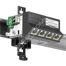 Microsens MS440207PMXH-48G6-GT: Zodolněný Gigabit Ethernet Micro-Switch, 4x 10/100/1000M PoE+ (PSE), 2x FE/GE SFP, montáž na DIN lištu, horizontální verze, napájení 44~57V DC