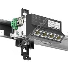 Microsens MS440209PMXH-48G6-GT: Zodolněný Gigabit Ethernet Micro-Switch, 5x 10/100/1000M PoE+ (PSE), 1x FE/GE SFP, montáž na DIN lištu, horizontální verze, napájení 44~57V DC