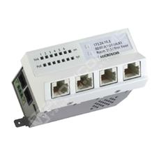 Microsens MS440200PM-48G6: Gigabit Ethernet Micro-Switch, 4x 10/100/1000M PoE+ (PSE), Uplink: 1x FE/GE SFP MM, Downlink: 1x FE/GE RJ-45 + PoE/PoE+, montáž na DIN lištu, horizontální verze, napájení 44~57V DC