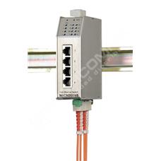 Microsens MS650506PM-48: Průmyslový Fast Ethernet PoE switch, 4x 10/100M RJ45 s PoE, 2x FE SM 40km, SC konektory