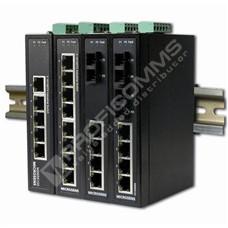 Microsens MS657104X: 5 port Průmyslový Fast Ethernet switch, 4x 10/100 Base-TX, 1x 100Base-FX Singlemode 1310nm SC 30 km