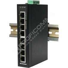 Microsens MS657208PX: Průmyslový Gigabit Ethernet switch bez managementu, 8x 10/100/1000M RJ45, 8x PoE+ až 30W na port, 48-56VDC