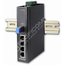 Microsens MS655201X: Průmyslový Gigabit Ethernet switch bez managementu, 4x 10/100/1000M RJ45, 1x GE SFP