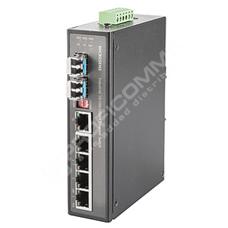 Microsens MS657203PX: 6 portový průmyslový PoE Switch 10/100/1000T  RJ45, 1x 10/100/1000T nebo 100/1000FX, 1x 100/1000FX SFP,  PoE+ (max 30W na port)