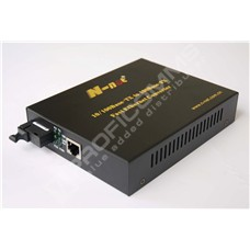 N-net NT-S1100-20-TX1310nm: Fast Ethernet media konvertor 10/100M RJ45 na FE SM WDM 20km externí zdroj