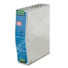 meanwell NDR-75-48: Meanwell 48V, 75W DIN napájecí zdroj (NDR-75-48, seříditelný 48-56V DC výstup)