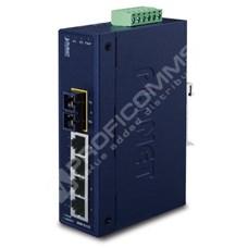 Planet ISW-511T: L2 industriální switch bez managementu, 4*10/100TX + 1* 100Base-FX (SC, MM, 2 km), -40 - 75 C