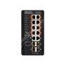 Edge-Core ECIS4500-8P2T4F: Průmyslový Gigabit Ethernet L2/L3 PoE++ switch s 1GE uplinkem 14 port, zdroj -48V DC