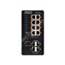 Edge-Core ECIS4500-8P4F: Průmyslový Gigabit Ethernet L2/L3 PoE+ switch s 1GE uplinkem 12 port, zdroj -48V DC